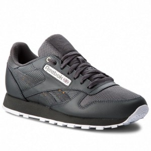 Black Friday 2020 | Reebok Chaussures Cl Leather Mu CN4890 Stealth/Banana/White