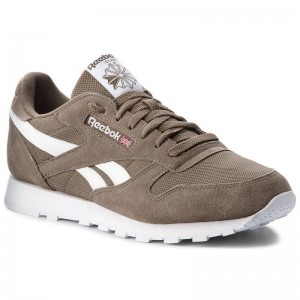 Reebok Chaussures Cl Leather Mu CN5018 Terrain Grey/White