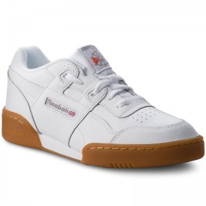 Black Friday 2020 | Reebok Chaussures Workout Plus CN2243 White/Carbon/Red Gum