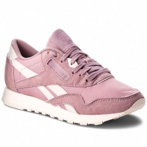 Black Friday 2020 | Reebok Chaussures Cl Nylon CN2886 Infused Lilac/Pale Pink