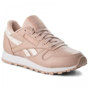 Black Friday 2020 | Reebok Chaussures Cl Lthr CN4020 Bare Beige/White