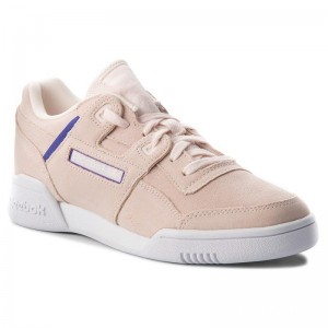 Black Friday 2020 | Reebok Chaussures Workout Lo Plus CN5524 Pale Pink/Purple/White