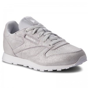 Reebok Chaussures Classic Leather CN5582 Silver Met/Grey/Wht