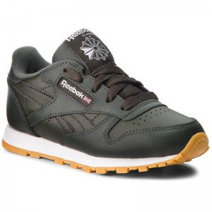 Black Friday 2020 | Reebok Chaussures Classic Leather CN5614 Dark Cypress/White