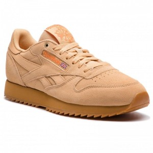 Black Friday 2020 | Reebok Chaussures Cl Leather Mu CN3874 Cappucino/Pure Orange/Gum