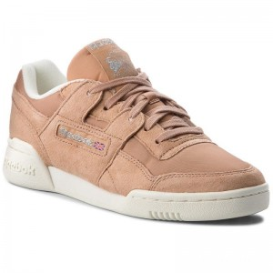 Black Friday 2020 | Reebok Chaussures Workout Lo Plus CN3835 Bare Brown/Chlk/Silver
