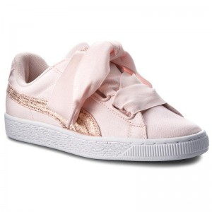 Black Friday 2020 | Puma Sneakers Basket Heart Canvas 366495 02 Pearl/Puma White/Rose Gold