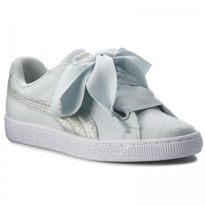 Puma Sneakers Basket Heart Canvas 366495 03 Blue Flower/White/Silver