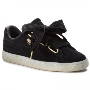 Puma Sneakers Suede Heart Celebrate 365561 01 Black/Puma Black