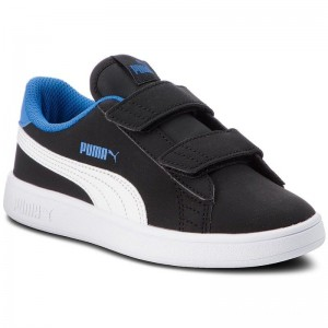 Black Friday 2020 | Puma Sneakers Smash V2 Buck V Ps 365183 04 Blk/Puma Wh/Strong Blue