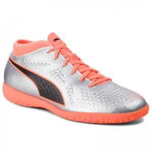 Puma Chaussures One 4 Syn It 104750 01 Silver/Orange/Black