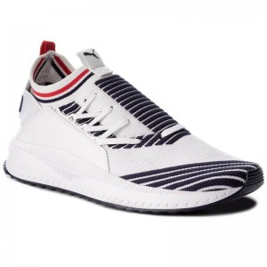 Puma Sneakers Tsugi Jun Sport Stripes 367519 01 Pwhite/Peacoat/Rred