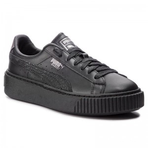 Black Friday 2020 | Puma Sneakers Basket Platform Euphoria Metal 367850 02 Black/Puma Aged Silver
