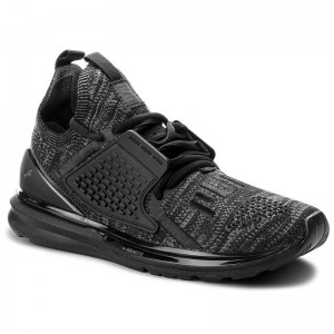 Black Friday 2020 | Puma Chaussures Ignite Limitless 2 EvoKnit 191441 01 Black/Iron Gate