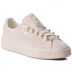 Black Friday 2020 | Puma Sneakers Suede Platform Bling Wn's 366688 02 Whisper White/Whisper White