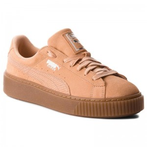 Puma Sneakers Suede Platform Animal 365109 Dusty Coral/Puma Silver
