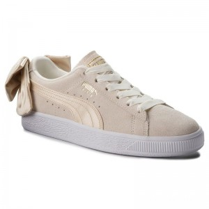 Puma Sneakers Suede Bow Varsity Wn's 367732 03 Marshmallow/Metallic Gold