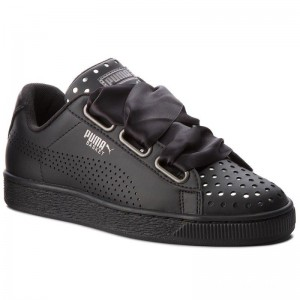 Black Friday 2020 | Puma Sneakers Basket Heart Ath Lux Wn's 366728 03 Black/Puma Black