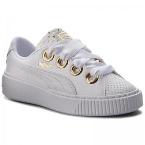 Black Friday 2020 | Puma Sneakers Platform Kiss Ath Lux Wn's 366704 01 White/Puma White