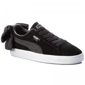 Puma Sneakers Suede Bow Uprising Wn's 367455 01 Black/Puma White