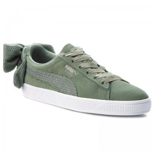 Puma Sneakers Suede Bow Uprising Wn's 367455 02 Laurel Wreath/Puma White