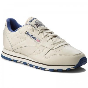 Black Friday 2020 | Reebok Chaussures Cl Lthr 28413 Ecru/Navy