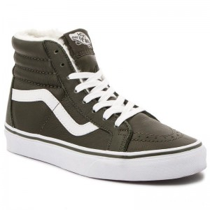 Black Friday 2020 | Vans Sneakers Sk8-Hi Reissue VN0A2XSBUCH1 (Leather/Fleece) Olive Ni