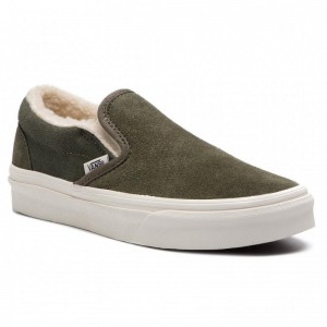 Vans Tennis Classic Slip-On VN0A38F7ULZ1 (Suede/Sherpa) Grape Leaf