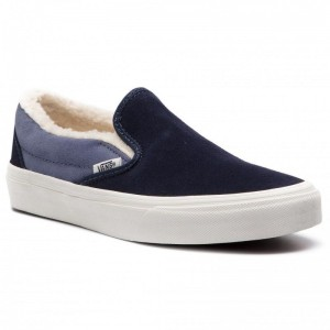 Vans Tennis Classic Slip-On VN0A38F7UM11 (Suede/Sherpa) Sky Captai