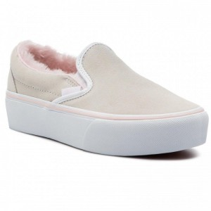[Vente] Vans Tennis Classic Slip-On P VN0A3JEZUM71 (Suede/Fur) True White/Pi