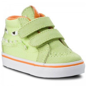 Black Friday 2020 | Vans Sneakers Sk8-Mid Reissue V VN0A348JU4R (Monster Face) Green/Russet Orange