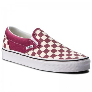 Vans Tennis Classic Slip-On VN0A38F7U7A (Checkerboard) Dry Rose/W