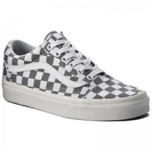 Black Friday 2020 | Vans Tennis Old Skool VN0A38G1U53 (Checkerboard) Pewter/Marshmallow