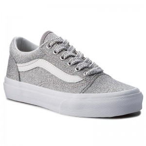 Black Friday 2020 | Vans Tennis Old Skool VN0A38HBUAW (Lurex Glitter) Silver/Tr