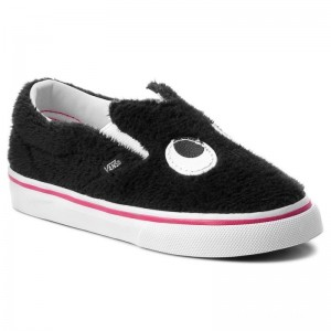 Black Friday 2020 | Vans Chaussures basses Slip-On Friend VN0A3TK4U4T (Party Fur) Black/True Wh