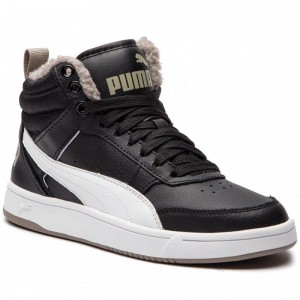 Black Friday 2020 | Puma Sneakers Rebound Streetv2 Fur Jr 363919 04 Black/White/Elephant Skin