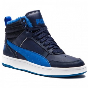 Black Friday 2020 | Puma Sneakers Rebound Street V2 Fur Jr 363919 05 Peacoat/Strong Blue/White