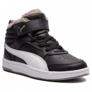 Black Friday 2020 | Puma Sneakers Rebound Street2Fur V Ps 363920 04 Black/White/Elephnt Skin