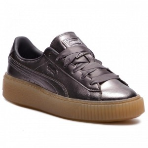 Black Friday 2020 | Puma Sneakers Basket Platform Luxe Wn's 366687 01 Quiet Shade/Quiet Shade