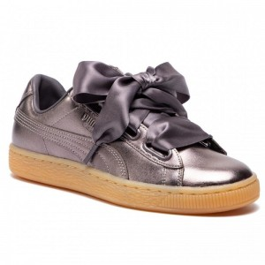 Black Friday 2020 | Puma Sneakers Basket Heart Luxe Wn's 366730 01 Quiet Shade/Quiet Shade