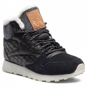 Black Friday 2020 | Reebok Chaussures Cl Lthr Arctic Boot CN3744 Black/Chalk/Camel/Pink