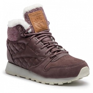 Reebok Chaussures Cl Lthr Arctic Boot CN3747 Almost Grey/Chalk/Camel