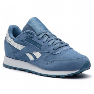 Black Friday 2020 | Reebok Chaussures Cl Lthr CN4385 Blue Slate/White