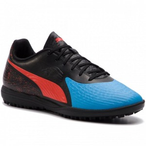Black Friday 2020 | Puma Chaussures One 19.4 TT 105495 01 Bleu Azur/Red Blast/Black
