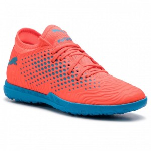 Black Friday 2020 | Puma Chaussures Future 19.4 TT 105548 01 Red Blast/Bleu Azur