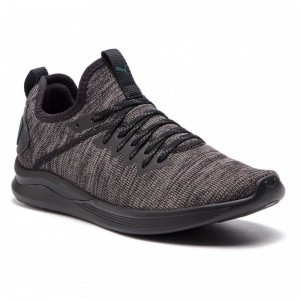 Black Friday 2020 | Puma Chaussures Ignite Flash EvoKnit 190508 20 Black/Dk Grey/Ponderosa Pine