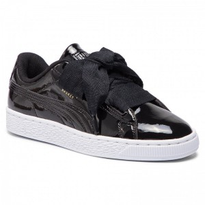 Puma Sneakers Basket Heart Patent Jr 364817 01 Black/Prism Pink/Gold/White