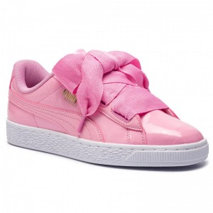 Puma Sneakers Basket Heart Patent Jr 364817 03 Prism Pink/Pcoat/Gold/White