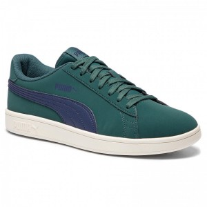 Black Friday 2020 | Puma Sneakers Smash V2 Buck 365160 12 Pine/Pcoat/Whisper White