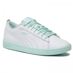 Puma Sneakers Smash Wns V2 L Perf 365216 06 White/Fair Aqua